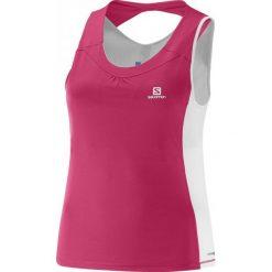 Salomon Koszulka Do Biegania Agile Impact Tank W Hot Pink/White S. Czarne bluzki sportowe damskie marki Salomon, z gore-texu, na sznurówki, outdoorowe, gore-tex. Za 225,00 zł.