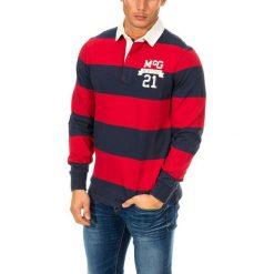 Koszulki polo: Koszulka polo w kolorze granatowo-czerwonym