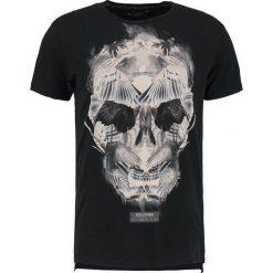 T-shirty męskie z nadrukiem: Religion WINGS SKULL TEE Tshirt z nadrukiem black