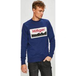 Tommy Hilfiger - Bluza. Niebieskie bejsbolówki męskie TOMMY HILFIGER, l, z nadrukiem, z bawełny, bez kaptura. Za 499,90 zł.