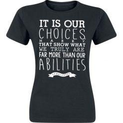 Bluzki asymetryczne: Harry Potter Our Choices - Dumbledore Koszulka damska czarny