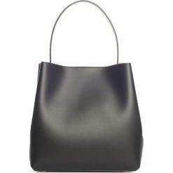 Torebki klasyczne damskie: Skórzana torebka w kolorze czarnym – 35 x 50 x 12 cm
