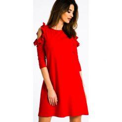 Czerwona Sukienka z Odkrytymi Ramionami 3302. Niebieskie sukienki marki Reserved, z odkrytymi ramionami. Za 59,00 zł.
