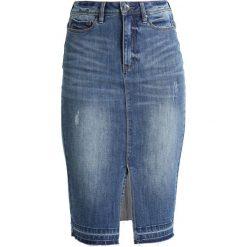 Spódniczki jeansowe: Vero Moda Tall VMJASMIN  Spódnica ołówkowa  dark blue denim
