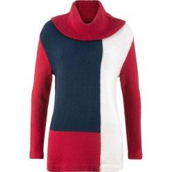 Sweter z golfem oversize bonprix ciemnoczerwono-ciemnoniebieski melanż. Czerwone swetry oversize damskie bonprix. Za 74,99 zł.