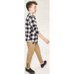 Odzież dziecięca: Spodnie jogger z zamkiem przy mankiecie - Beżowy