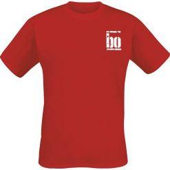 Böhse Onkelz Rocker T-Shirt czerwony. Czerwone t-shirty męskie z nadrukiem Böhse Onkelz, xl, z okrągłym kołnierzem. Za 94,90 zł.