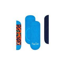 Skarpetki Happy Socks -  3-Pak Liner (LEO18-2000). Niebieskie skarpetki męskie marki Happy Socks, w kolorowe wzory, z bawełny. Za 63,90 zł.