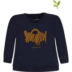 Bluza w kolorze granatowym. Niebieskie bluzy chłopięce marki bellybutton, z aplikacjami, z bawełny. W wyprzedaży za 37,95 zł.