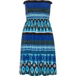 Sukienki hiszpanki: Sukienka plażowa bandeau bonprix czarno-niebieski
