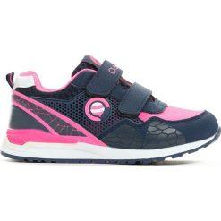 Buty sportowe dziewczęce: Granatowo-Różowe Buty Sportowe Plumy