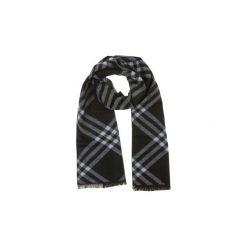 Szal męski standardowy, zimowy we wzory. Czarne szaliki męskie TXM, na zimę. Za 12,49 zł.