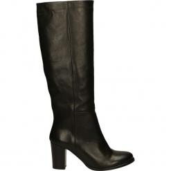Kozaki - 7161G VI NERO. Czarne buty zimowe damskie Venezia, ze skóry. Za 249,00 zł.