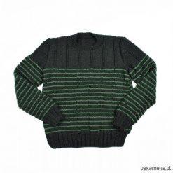 Sweter w paski Merynos Dziecięcy. Czarne swetry klasyczne damskie Pakamera, z wełny. Za 342,00 zł.