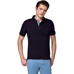 Koszulka Granatowa Polo Jack. Czerwone koszulki polo marki LANCERTO, m, z bawełny, z krótkim rękawem. W wyprzedaży za 69,90 zł.