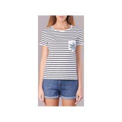 T-shirty z krótkim rękawem Roxy  BAHAMAS COTTAGE. Białe t-shirty damskie marki Roxy, l, z nadrukiem, z materiału. Za 127,20 zł.