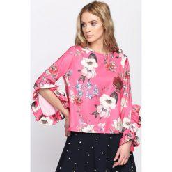 Fuksjowa Bluzka They Saying. Różowe bluzki na imprezę marki Born2be, s. Za 69,99 zł.