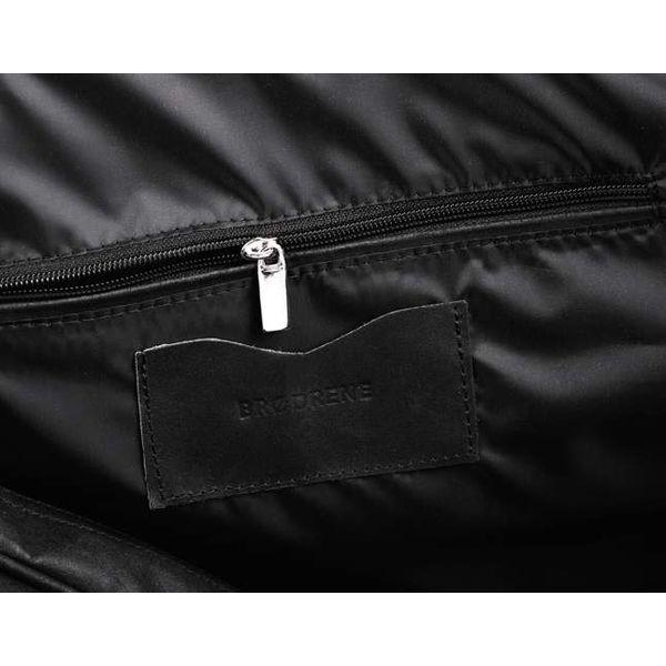 007a52530a6d4 Casual skórzana torba podróżna na ramię czarna - Czarne torby męskie ...