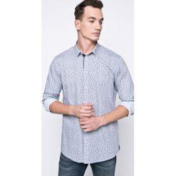 Trussardi Jeans - Koszula. Szare koszule męskie jeansowe marki Trussardi Jeans, z klasycznym kołnierzykiem, z długim rękawem. W wyprzedaży za 299,90 zł.