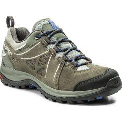 Trekkingi SALOMON - Ellipse 2 Ltr W 398538 Shadow/Beluga/Amparo Blue. Szare buty trekkingowe damskie marki Salomon, z gore-texu, na sznurówki, outdoorowe, gore-tex. W wyprzedaży za 319,00 zł.