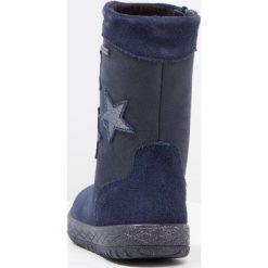 Superfit MERCURY Kozaki ocean. Niebieskie buty zimowe damskie marki Superfit, z materiału, na wysokim obcasie. W wyprzedaży za 233,35 zł.