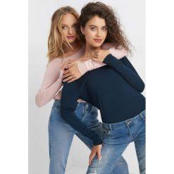 Koszulka basic. Brązowe bluzki longsleeves marki Orsay, s, z dzianiny. Za 39,99 zł.