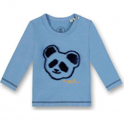 Koszulka w kolorze błękitnym. Białe t-shirty chłopięce z długim rękawem marki UP ALL NIGHT, z bawełny. W wyprzedaży za 62,95 zł.
