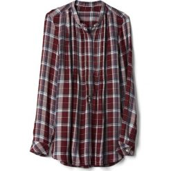 Tuniki damskie: GAP PINTUCK PLAID  Tunika navy/burgundy