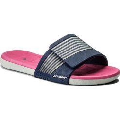 Chodaki damskie: Klapki RIDER - Prana Fem 82206 Grey/Blue/Pink 24106