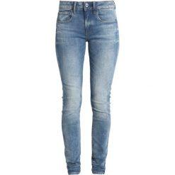 GStar 3301 DECONSTRUCTED MID SKINNY Jeans Skinny Fit beach medium aged. Niebieskie jeansy damskie relaxed fit marki G-Star, z bawełny. Za 469,00 zł.