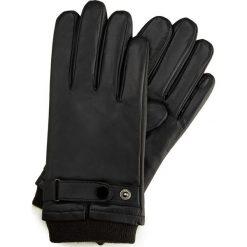 Rękawiczki męskie 39-6-704-1. Czarne rękawiczki męskie marki Wittchen, w paski. Za 149,00 zł.