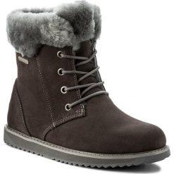 Śniegowce EMU AUSTRALIA - Shoreline Lo W11750 Charcoal. Szare buty zimowe damskie EMU Australia, ze skóry. W wyprzedaży za 429,00 zł.