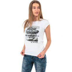 4f Koszulka damska H4Z17-TSD002 biała r. L. Białe topy sportowe damskie 4f, l. Za 21,55 zł.