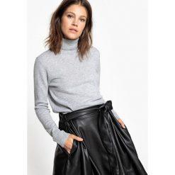 Sweter z golfem, 100% kaszmir. Szare golfy damskie marki La Redoute Collections, m, z bawełny, z kapturem. Za 349,86 zł.