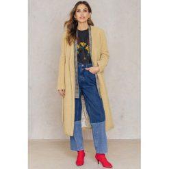 Płaszcze damskie pastelowe: Rebecca Stella Długi płaszcz Teddy - Beige