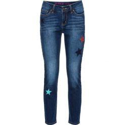 """Dżinsy SKINNY, dł. do kostki bonprix niebieski """"stone"""". Niebieskie rurki damskie bonprix, z haftami, z jeansu. Za 109,99 zł."""