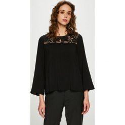 Jacqueline de Yong - Bluzka. Czarne bluzki z odkrytymi ramionami Jacqueline de Yong, s, z bawełny, casualowe, z okrągłym kołnierzem. Za 89,90 zł.