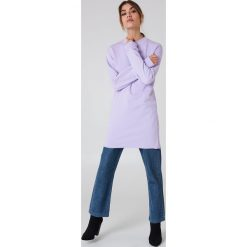 Bluzy damskie: NA-KD Basic Długa bluza basic – Purple