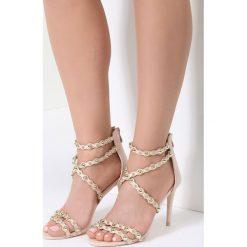 Beżowe Sandały Always Be Beautiful. Brązowe sandały damskie marki vices, na wysokim obcasie. Za 49,99 zł.