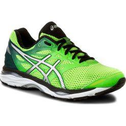 Buty ASICS - Gel-Cumulus 18 T6C3N Green Gecko/Silver/Safety Yellow. Zielone buty do biegania męskie Asics, z materiału. W wyprzedaży za 359,00 zł.