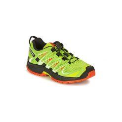 Buty Dziecko Salomon  XA PRO 3D J. Szare buty sportowe chłopięce marki Salomon, z gore-texu, na sznurówki, outdoorowe, gore-tex. Za 215,20 zł.