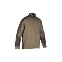Sweter myśliwski RENFORT 500. Brązowe swetry klasyczne męskie marki LIGNE VERNEY CARRON, m, z bawełny. Za 99,99 zł.