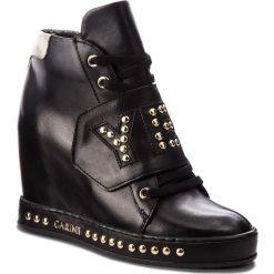 Sneakersy CARINII - B4504 E50-L90-000-B88. Czarne sneakersy damskie Carinii, z materiału. W wyprzedaży za 329,00 zł.