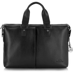 Torba na laptopa 20-3-042-11. Czarne torby na laptopa marki Wittchen, w paski, z tłoczeniem. Za 1499,00 zł.