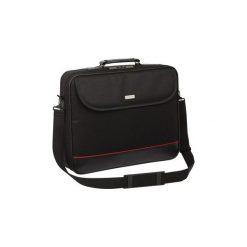 """Torba do laptopa Modecom Mark 17"""". Czarne torby na laptopa marki Modecom, w paski, z materiału. Za 31,77 zł."""
