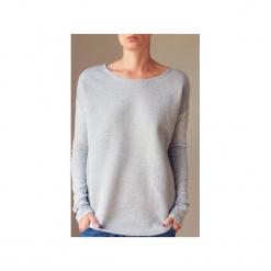 Wąski gruby rękaw szary bluza. Szare długie bluzy damskie One mug a day, z bawełny. Za 189,00 zł.