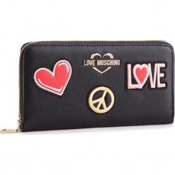 Duży Portfel Damski LOVE MOSCHINO - JC5604PP17LJ0000  Nero. Czarne portfele damskie marki Love Moschino, ze skóry ekologicznej. Za 429,00 zł.