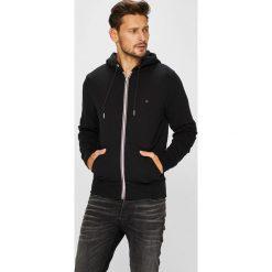 Tommy Hilfiger - Bluza. Czarne bluzy męskie rozpinane TOMMY HILFIGER, l, z bawełny, z kapturem. Za 399,90 zł.