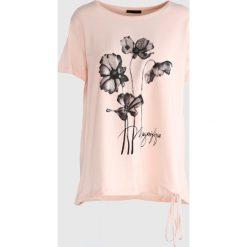 Bluzki damskie: Różowy T-shirt See The Sunsup