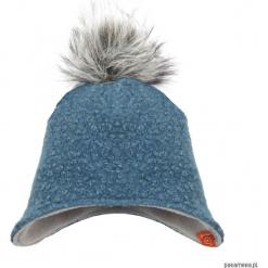 Czapka zimowa z pomponem - niebieski. Niebieskie czapeczki niemowlęce Pakamera, na zimę, z polaru. Za 79,00 zł.
